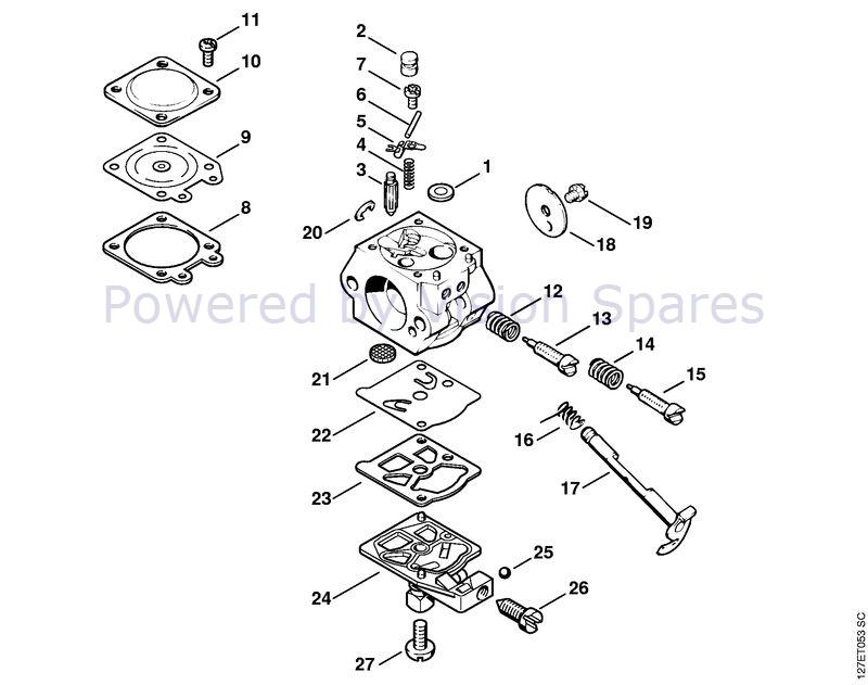 Stihl 024 Chainsaw (024SWVH) Parts Diagram, Carburetor WT-110