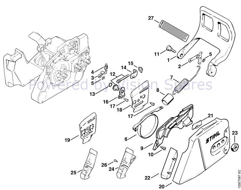 Stihl 026 Chainsaw (026) Parts Diagram, Chain Brake