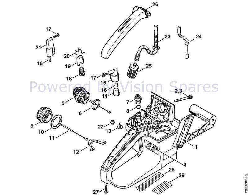 Stihl 034 Chainsaw 034 Parts Diagram Tank Handle