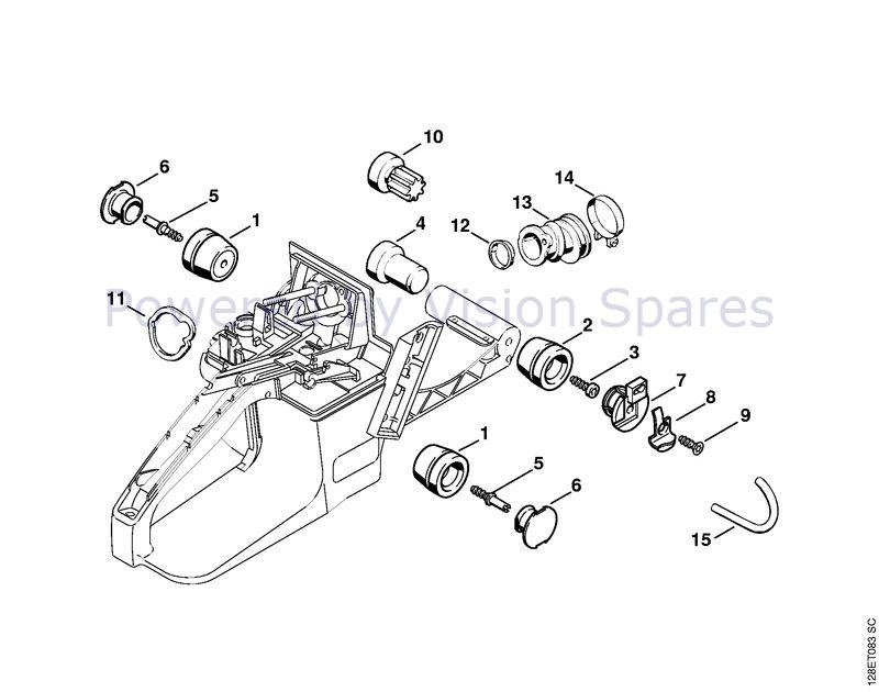 Stihl 034 Chainsaw 034 Parts Diagram Av System