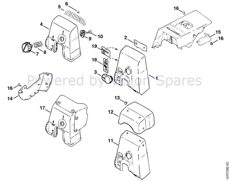 Stihl 024 Chainsaw 024sw Parts Diagram Carburetor Box Cover