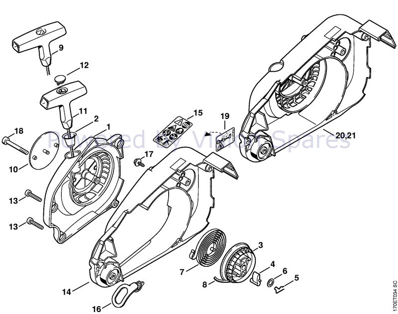 100 Stihl 019t And Ms 191t Chainsaws Parts Smallenginesprodealer