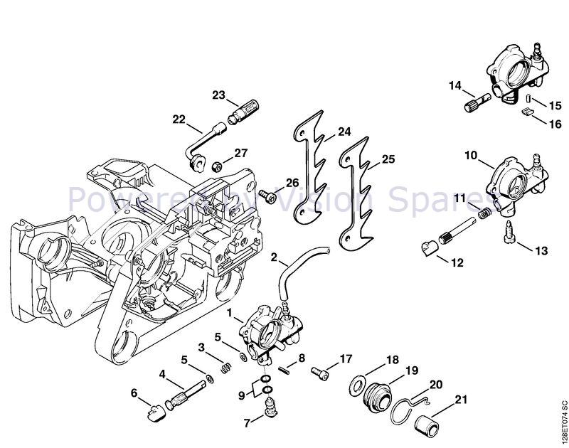 Stihl 034 Chainsaw 034 Parts Diagram Oil Pump