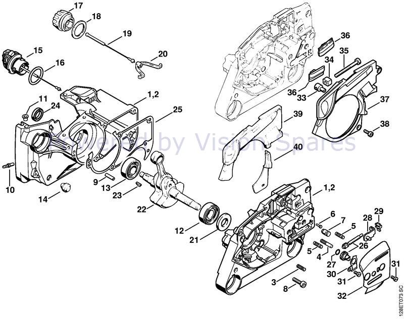 Stihl 034 Chainsaw 034 Parts Diagram Crankcase