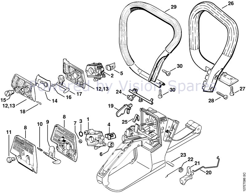 Stihl 024 Chainsaw (024SW) Parts Diagram, Air Filter