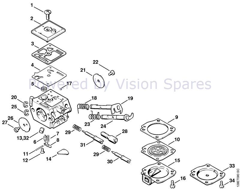 Stihl 034 Chainsaw 034 Parts Diagram Carburetor C3a S31e